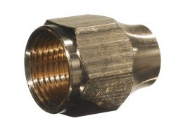 """REDUCING FLARE NUT 1/2"""" x 3/8"""""""