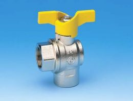 "BALL VALVE RIGHT ANGLE 3/4"" FF TEE HANDLE"