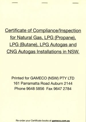 certificate of compliance book
